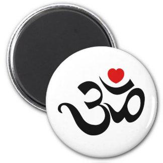 Om Symbol 2 Inch Round Magnet