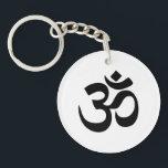 "Om Symbol Acrylic Keychain<br><div class=""desc"">om aum yoga namaste sanskrit symbol character spiritual ancient yogi new age</div>"