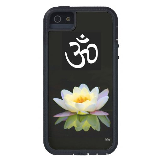 OM SYMBOL BLOOMING WHITE LOTUS CHAKRA YOGA CASE FOR iPhone 5