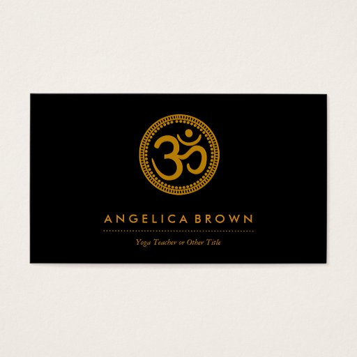 Om Symbol Business Card
