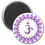 Om Symbol / Crown Chakra 2 Inch Round Magnet