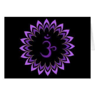 Om Symbol / Crown Chakra Greeting Cards