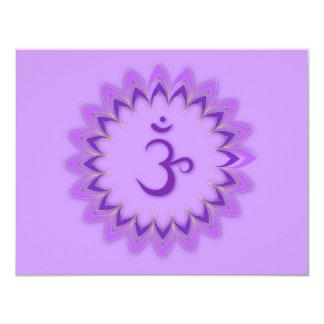 """Om Symbol / Crown Chakra 4.25"""" X 5.5"""" Invitation Card"""