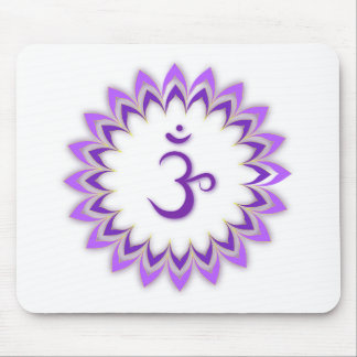 Om Symbol / Crown Chakra Mouse Pad