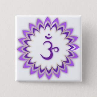 Om Symbol / Crown Chakra Pinback Button