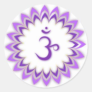Om Symbol / Crown Chakra Sticker