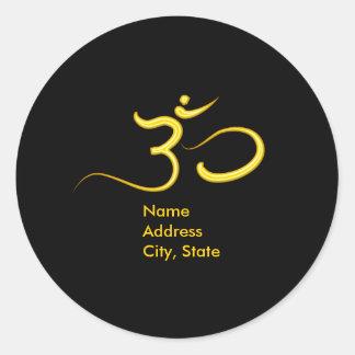 Om symbol envelope stickers