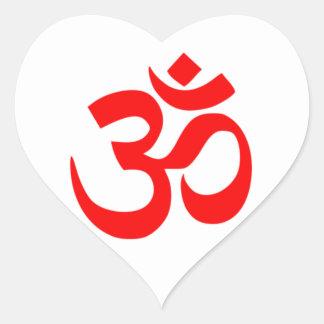 Om SYmbol Heart Sticker