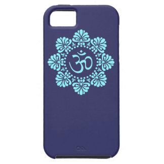 Om Symbol in Alpona Lotus Mandala iPhone 5 Case
