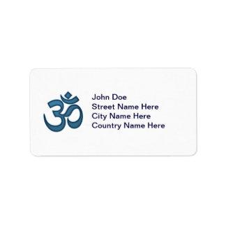 Om symbol personalized address label