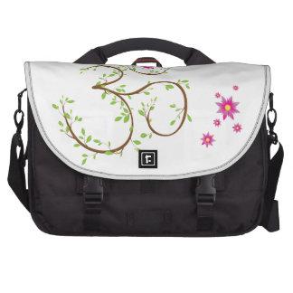 Om symbol laptop commuter bag
