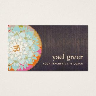 OM Symbol Lotus Mandala Art Business Card