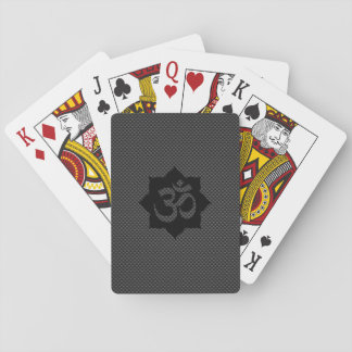 OM Symbol Lotus Spirituality Yoga Carbon Style Playing Cards