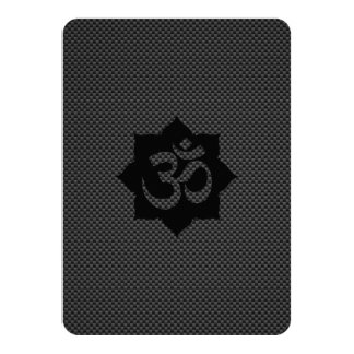 OM Symbol Lotus Spirituality Yoga in Carbon Fiber Card