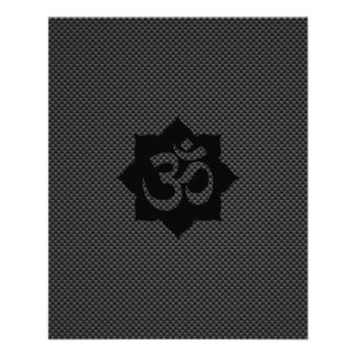 OM Symbol Lotus Spirituality Yoga in Carbon Fiber Flyer