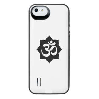 OM Symbol Lotus Spirituality Yoga in Carbon Fiber Uncommon Power Gallery™ iPhone 5 Battery Case
