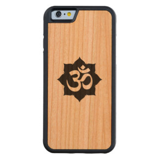 OM Symbol Lotus Spirituality Yoga in Carbon Fiber Carved® Cherry iPhone 6 Bumper Case