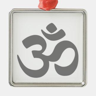 Om Symbol. Metal Ornament