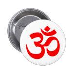 Om Symbol Mystical Sound in Hindu and Buddhism Pinback Button
