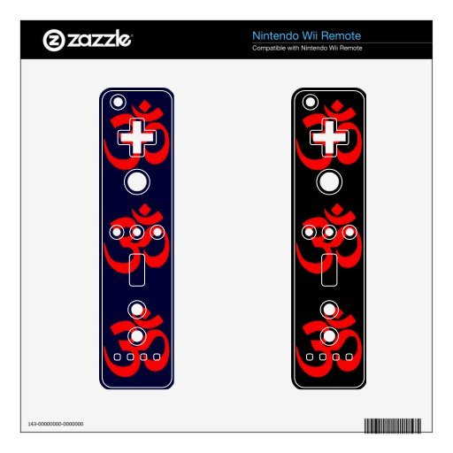 Om Symbol Mystical Sound in Hindu and Buddhism Decal For Wii Remote