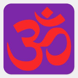 Om Symbol Mystical Sound in Hindu and Buddhism Square Sticker