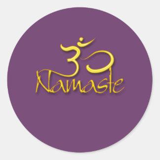Om symbol/namaste/DIY color Classic Round Sticker