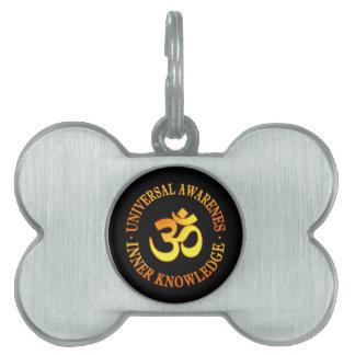 Om symbol pet name tag