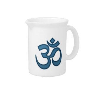 Om symbol drink pitcher