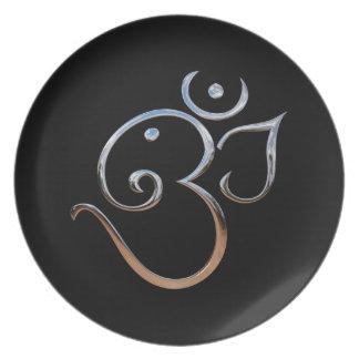 Om Symbol Dinner Plates