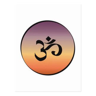 Om Symbol Post Card