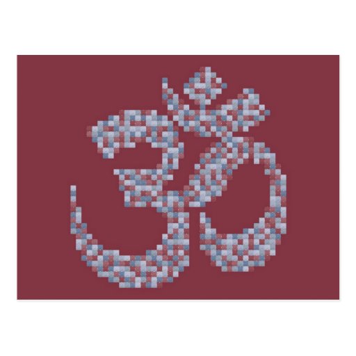 Om Symbol Postcard