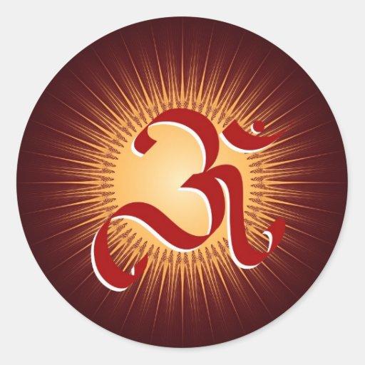 OM symbol Round Stickers