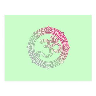 Om Symbol Sanskrit Post Card
