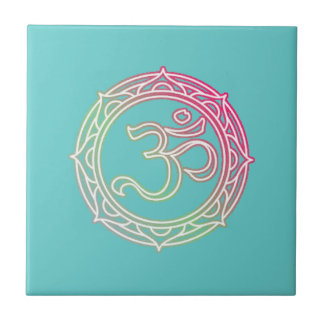 Om Symbol Sanskrit Tile