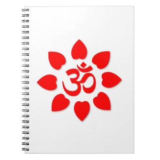 Om symbol spiral notebook