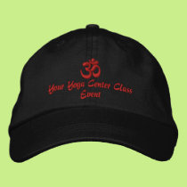 OM Symbol Spirituality Yoga Embroidery Embroidered Baseball Hat