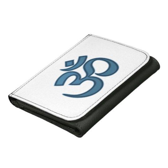 Om symbol tri-fold wallet