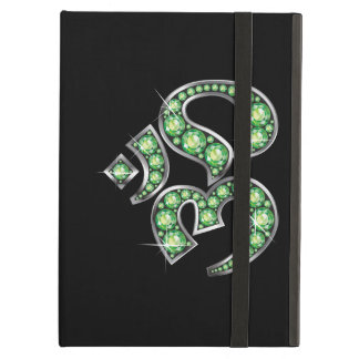 """Om Symbol with """"Peridot"""" Stones Cover For iPad Air"""