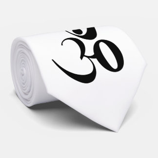 Om symbol yoga meditation neck tie