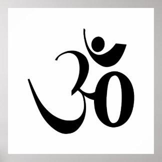 Om symbol yoga meditation poster