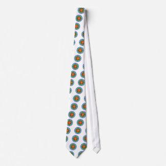 Om (Tamil) Red, Green, Blue Neck Tie
