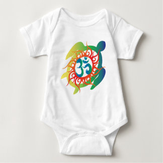 Om-Tatto-Vibrant-Turtle Baby Bodysuit