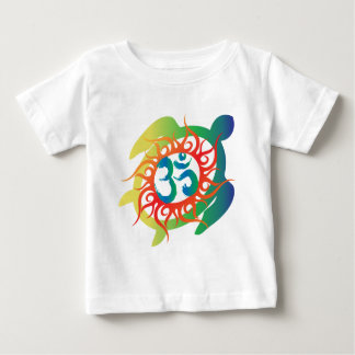 Om-Tatto-Vibrant-Turtle Baby T-Shirt