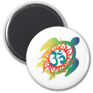 Om-Tatto-Vibrant-Turtle Refrigerator Magnet
