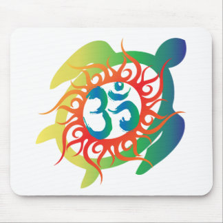 Om-Tatto-Vibrant-Turtle Mouse Pad