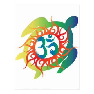 Om-Tatto-Vibrant-Turtle Postcard