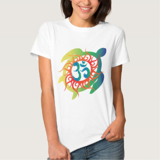 Om-Tatto-Vibrant-Turtle Shirt