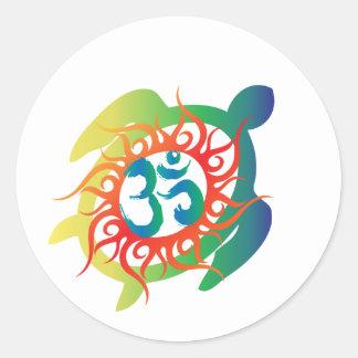 Om-Tatto-Vibrant-Turtle Sticker