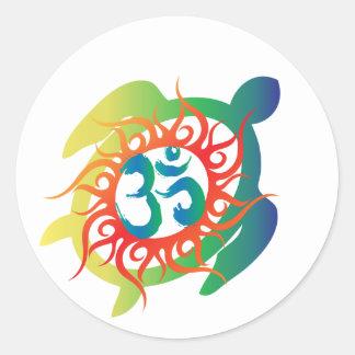 Om-Tatto-Vibrant-Turtle Stickers