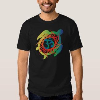 Om-Tatto-Vibrant-Turtle Tee Shirt